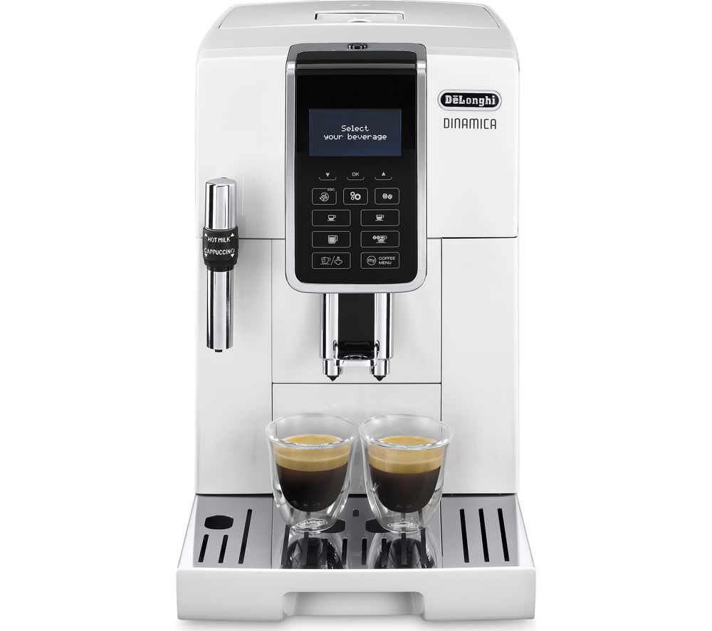 DELONGHI Dinamica ECAM 350.35.W Bean to Cup Coffee Machine - White