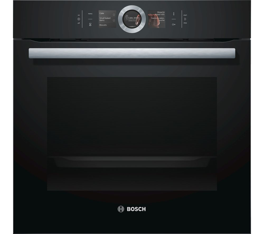 buy bosch serie 8 hbg656rb6b single oven black stainless steel free delivery currys. Black Bedroom Furniture Sets. Home Design Ideas