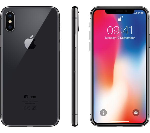buy apple iphone x 64 gb space grey free delivery currys. Black Bedroom Furniture Sets. Home Design Ideas