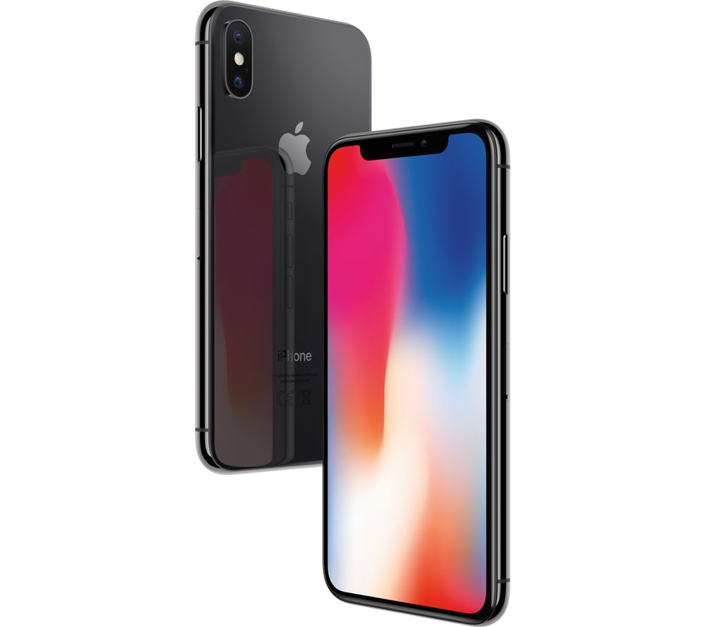 APPLE iPhone X - 64 GB, Space Grey