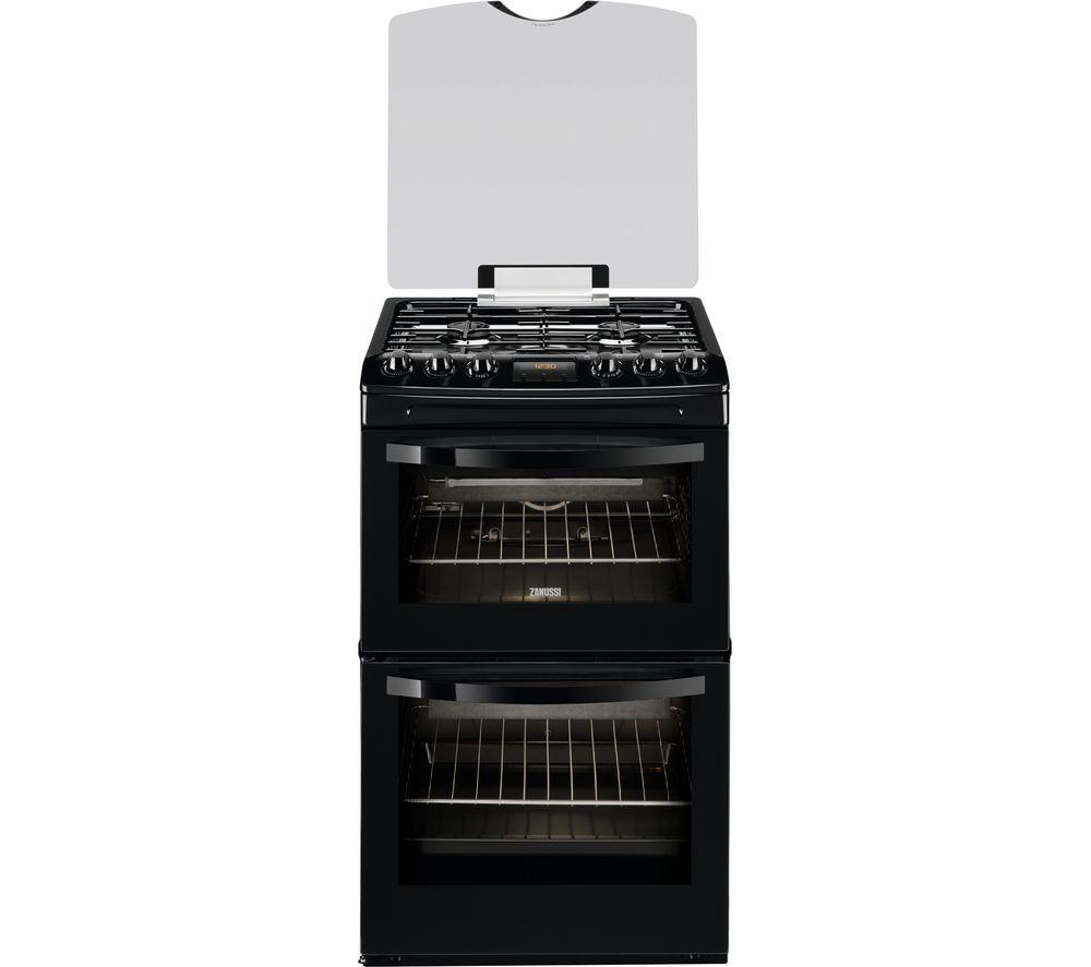 ZANUSSI ZCG43200BA 55 cm Gas Cooker – Black, Black