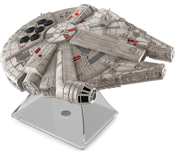 Image of STAR WARS Li-B17 Millennium Falcon Portable Bluetooth Wireless Speaker - Grey & Silver