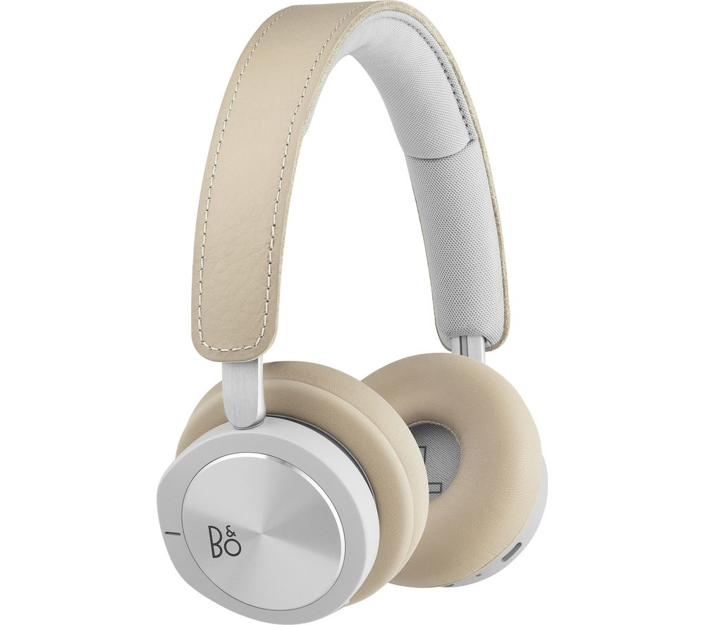 B&O H8i Wireless Bluetooth Noise-Cancelling Headphones - Natural