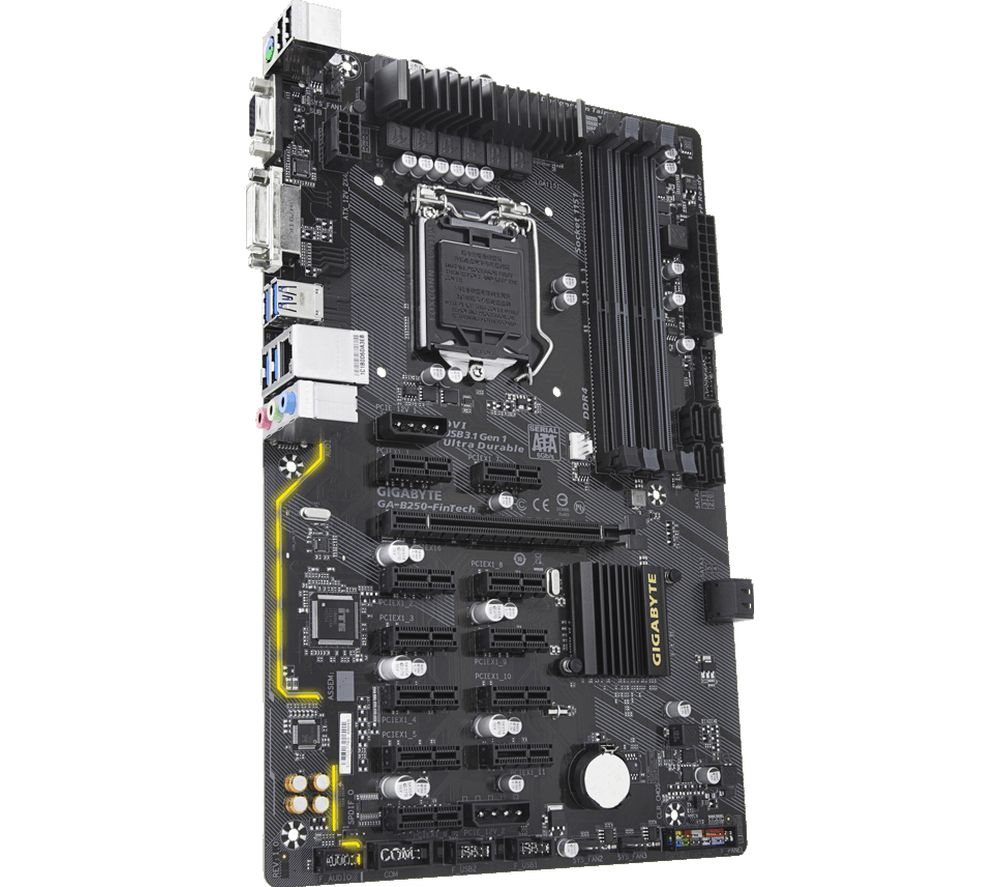 Compare prices for Gigabyte GA-B250 FinTech Cryptocurrency Mining LGA 1151 Motherboard