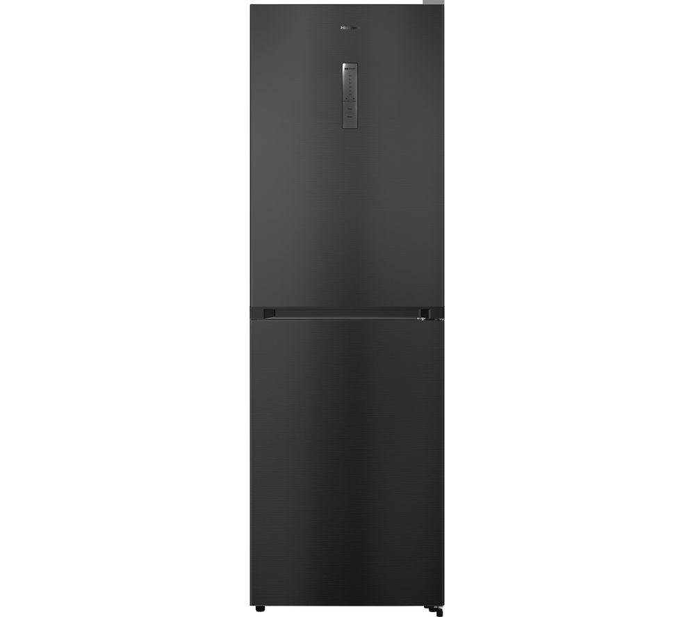 HISENSE RB412N4AF1 50/50 Fridge Freezer - Black Steel