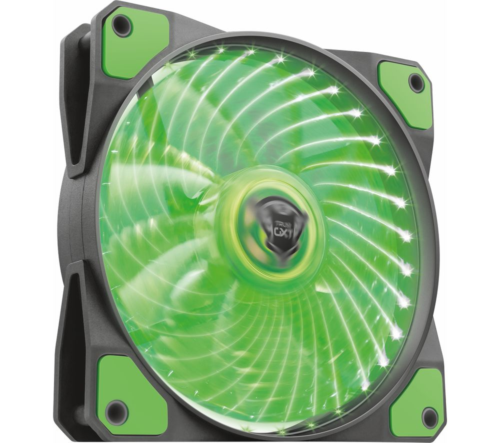 TRUST GXT 762G 120 mm Case Fan - Green LED