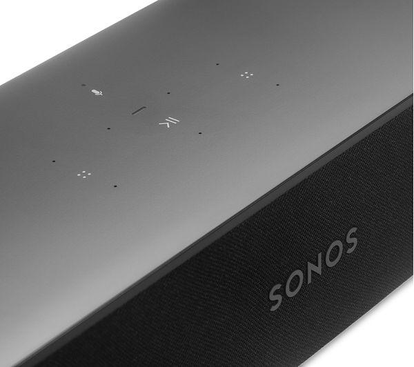 SONOS Beam Compact Sound Bar with Amazon Alexa & Google Assistant - Black