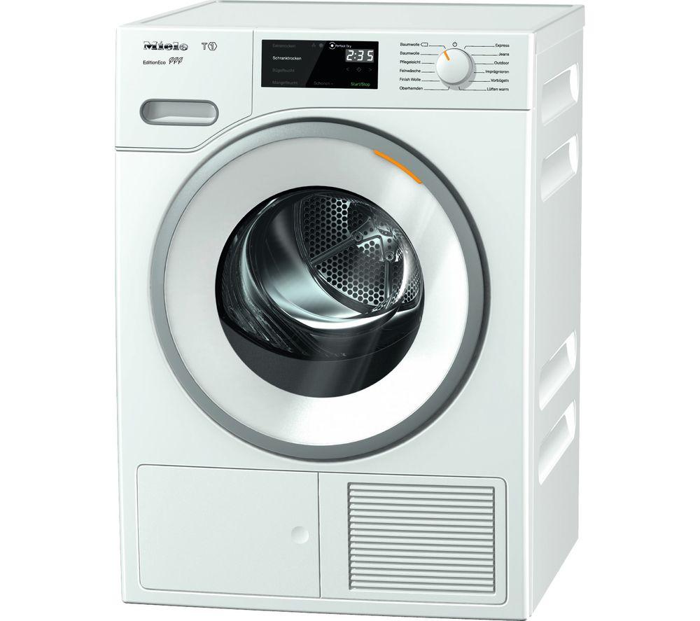 MIELE Eco TWF500WP 8 kg Heat Pump Tumble Dryer - White