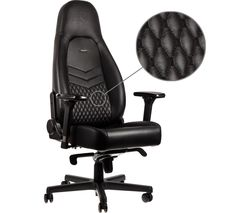 ICON Leather Gaming Chair - Black