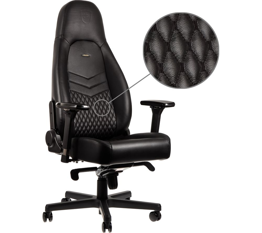 Image of ICON Leather Gaming Chair - Black, Black