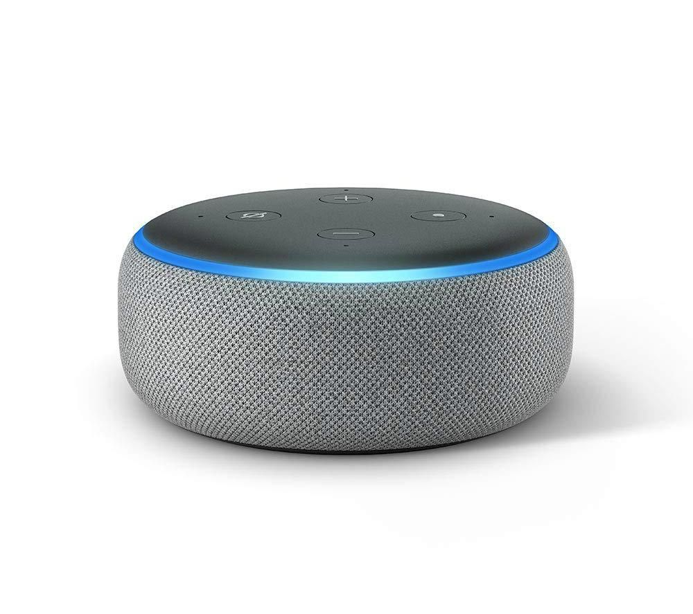 buy amazon echo dot 2018 heather grey free delivery. Black Bedroom Furniture Sets. Home Design Ideas