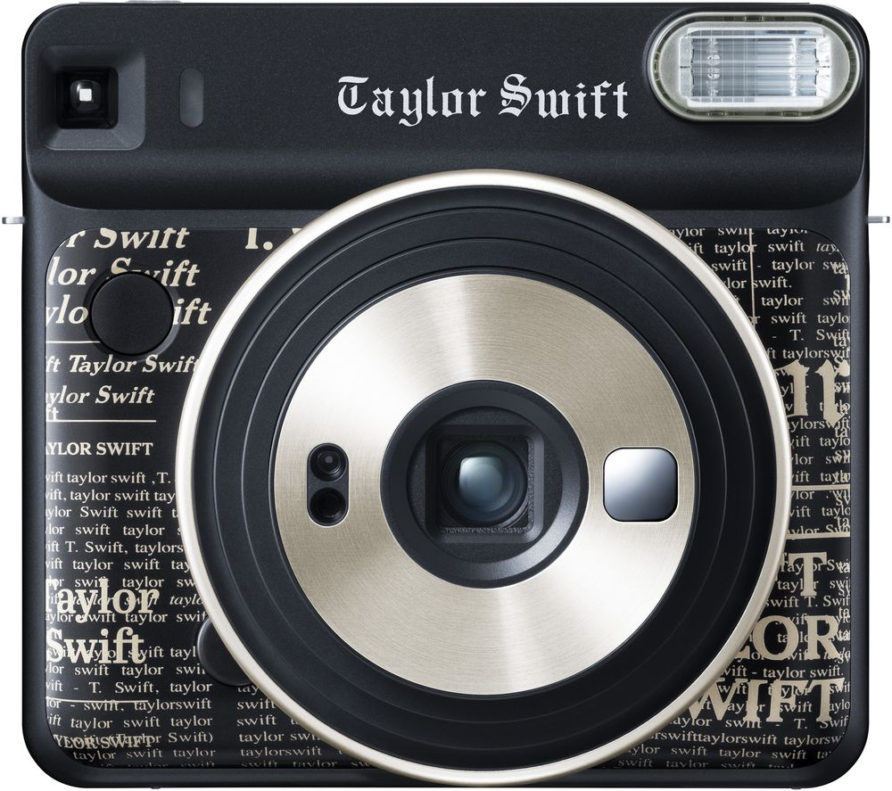 FUJIFILM SQ6 Taylor Swift Limited Edition Instant Camera – 10 Shots Included, Black, Black