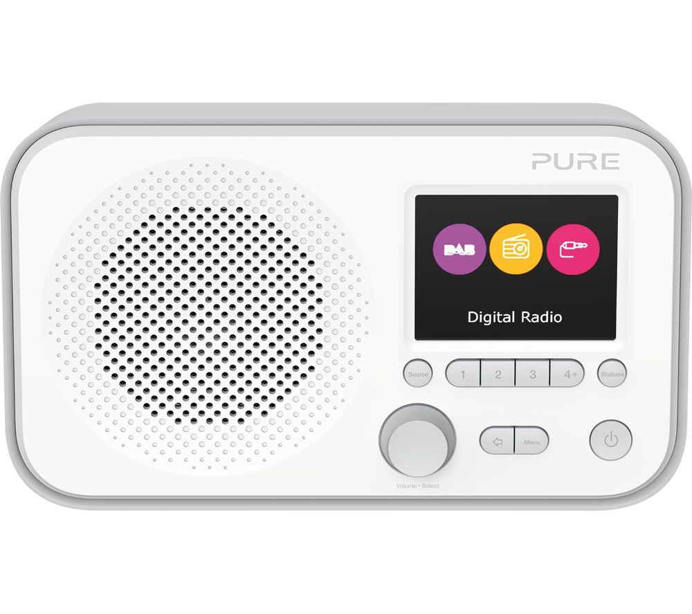 PURE Elan E3 Portable DAB? Radio - Grey, Grey