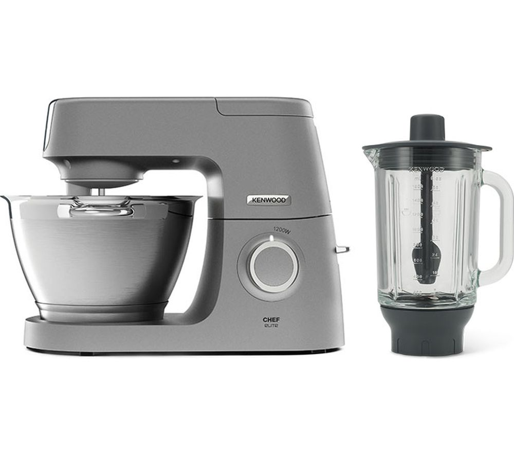 KENWOOD Chef Elite KVC5320S Stand Mixer with Glass Blender - Silver