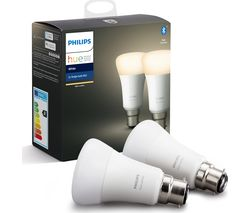 Hue White Bluetooth LED Bulb - B22, Twin Pack
