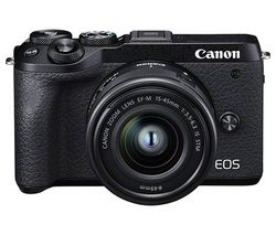 EOS M6 Mark II Mirrorless Camera with EF-M 15-45 mm f/3.5-5.6 IS STM Lens