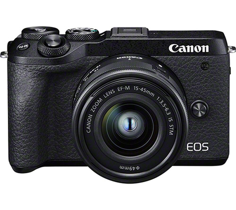 Canon Eos M6 Mark Ii Mirrorless Camera With Ef M 15 45 Mm F 35 56 Is Stm Lens