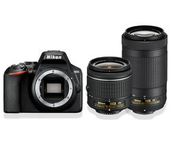 D3500 DSLR Camera with AF-P DX NIKKOR 18-55 mm f/3.5-5.6G VR & 70-300 mm f/4.5-6.3G ED VR Lens