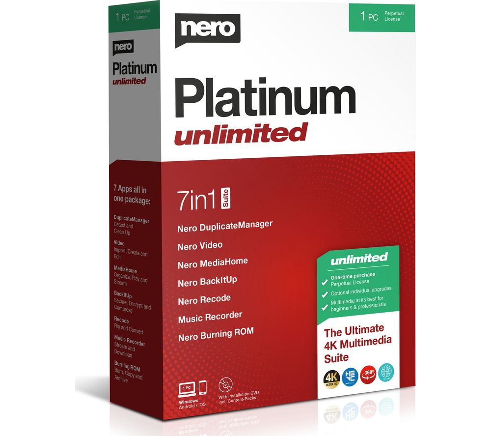 Image of NERO Platinum Unlimited 2020 - Lifetime for 1 user