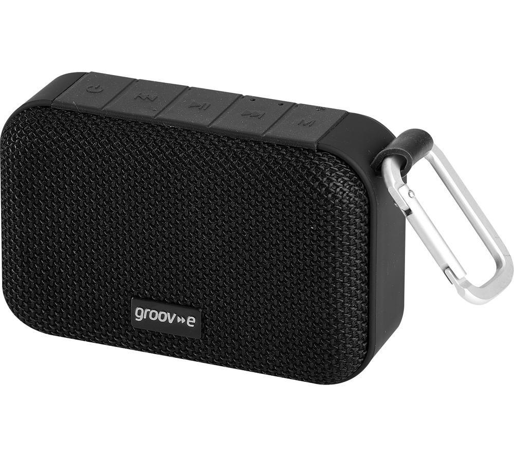 GROOV-E Wave II GVSP462BK Portable Bluetooth Speaker - Black, Black