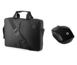 "HP 15.6"" Focus Topload Laptop Case & Wireless Mouse 200 Bundle - Black"