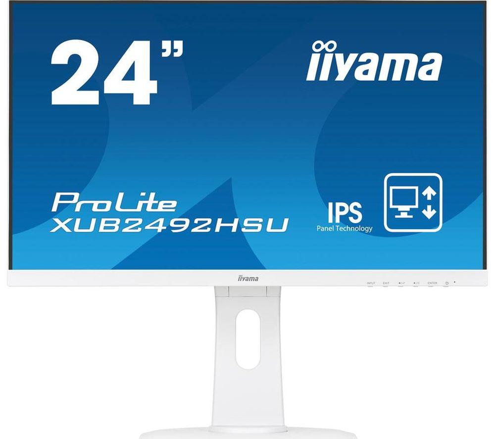 """Image of IIYAMA ProLite XUB2492HSU-W1 Full HD 24"""" IPS LCD Monitor - White, White"""