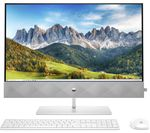 £1099, HP Pavilion 27-d0005na 27inch All-in-One PC - Intel® Core™ i7, 1 TB SSD, White, Achieve: Fast computing with the latest tech, Intel® Core™ i7-10700T Processor, RAM: 8GB / Storage: 1 TB SSD, Full HD display,