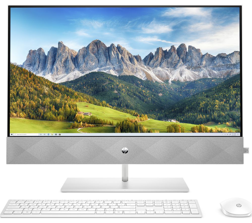 "Image of HP Pavilion 27-d0005na 27"" All-in-One PC - Intel® Core™ i7, 1 TB SSD, White"