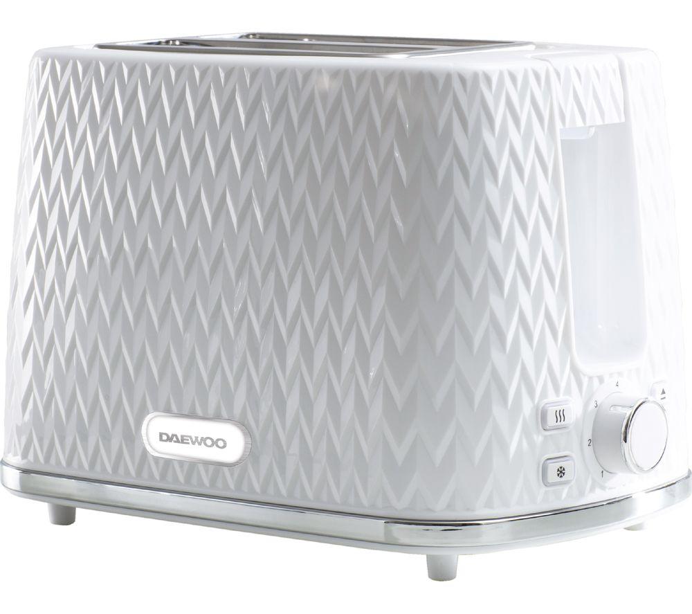 DAEWOO Argyle Collection SDA1781 2-Slice Toaster - White