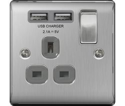 NBS21U2G-01 Switched Power 1-Socket Outlet