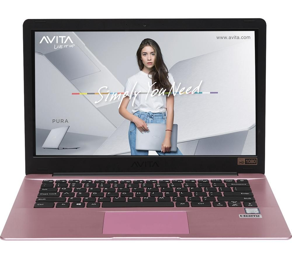 "Image of AVITA Pura 14"" Laptop - AMD Ryzen 3, 256 GB SSD, Rose Gold, Gold"