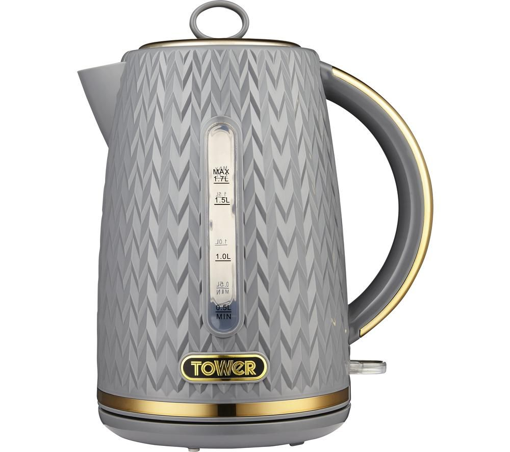 TOWER Empire Collection T10052GRY Jug Kettle - Textured Grey