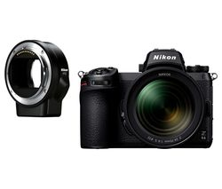 Z 6II Mirrorless Camera with NIKKOR Z 24-70 mm f/4 S Lens & FTZ Mount Adapter - Black