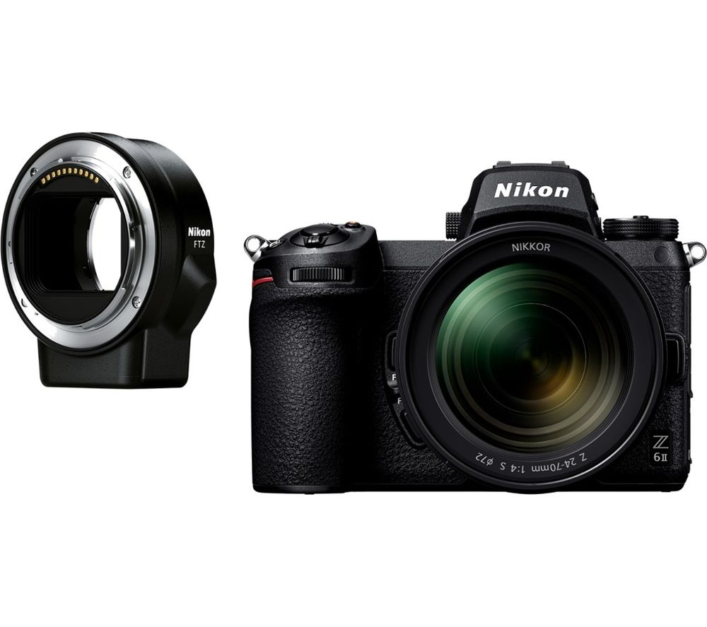 NIKON Z 6II Mirrorless Camera with NIKKOR Z 24-70 mm f/4 S Lens & FTZ Mount Adapter - Black