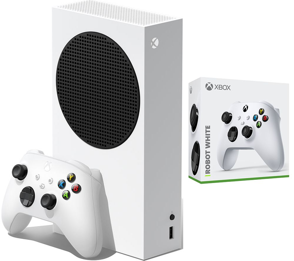 MICROSOFT Xbox Series S & Xbox Wireless Controller (Robot White) Bundle - 512 GB SSD, White