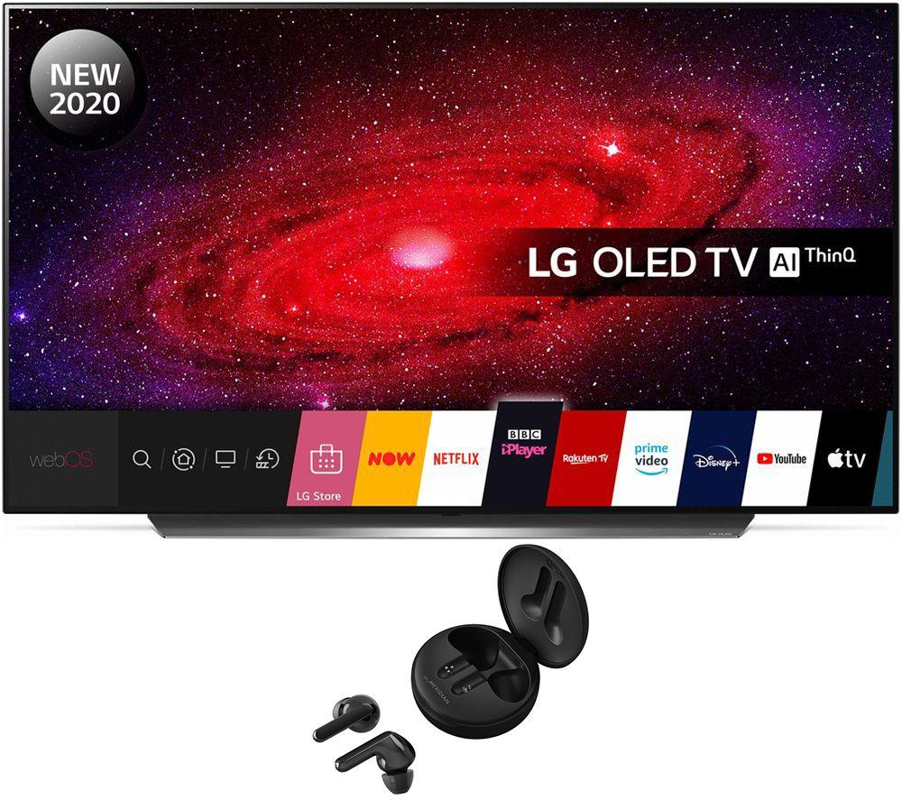 "LG OLED55CX6LA 55"" Smart TV & Wireless Bluetooth Earphones Bundle"