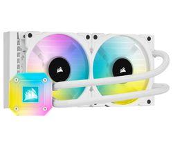 iCUE H100i ELITE CAPELLIX Liquid 240 mm CPU Cooler - RGB LED