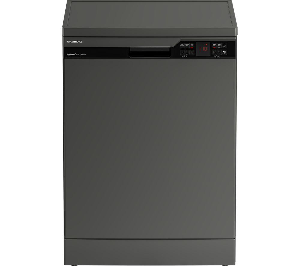 GRUNDIG GNFP3440G Full-size Dishwasher - Graphite, Graphite