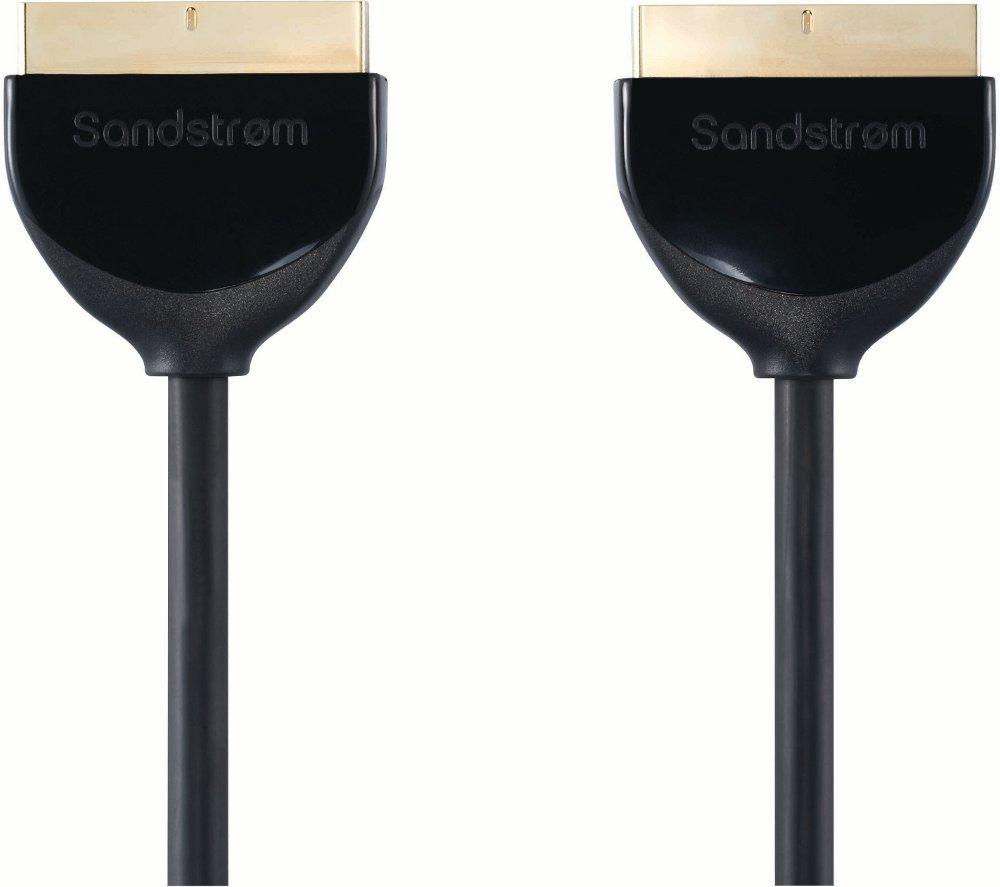 SANDSTROM AV Black Series Scart Cable - 3 m
