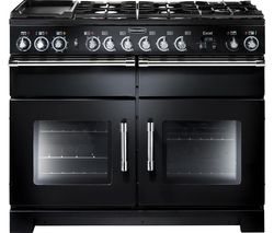 RANGEMASTER Excel 110 Dual Fuel Range Cooker - Black