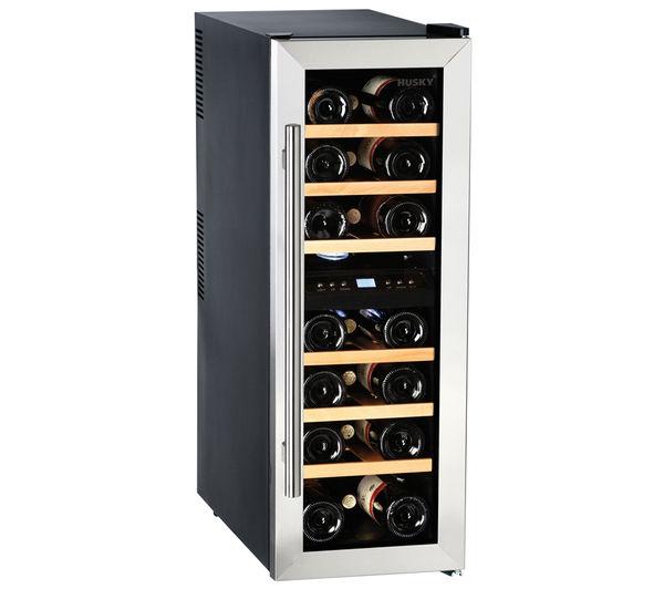 Image of HUSKY HUS-CN215 Drinks & Wine Cooler - Black & Silver