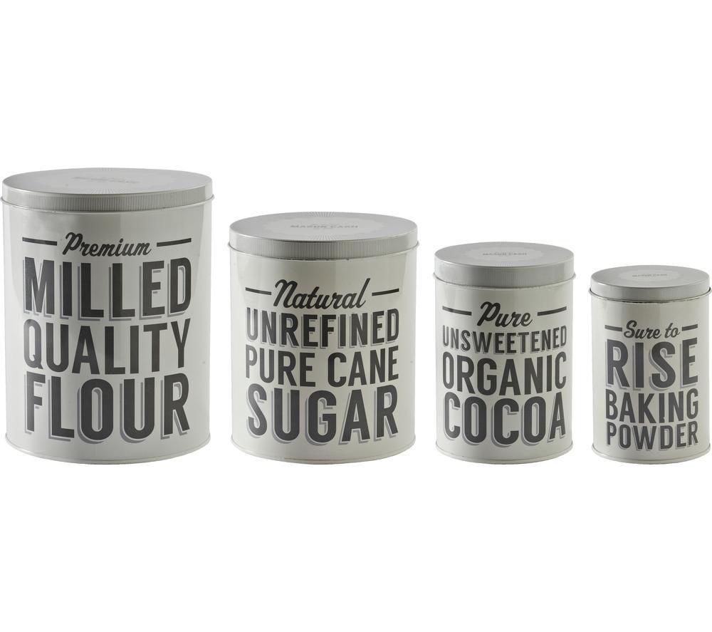 MASON CASH Baker Lane Baking Storage Tins - Set of 4