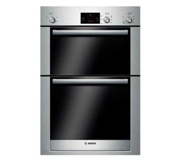 Cheapest price of Bosch Exxcel HBM13B550B Electric Double Oven Brushed Steel in new is £939.99