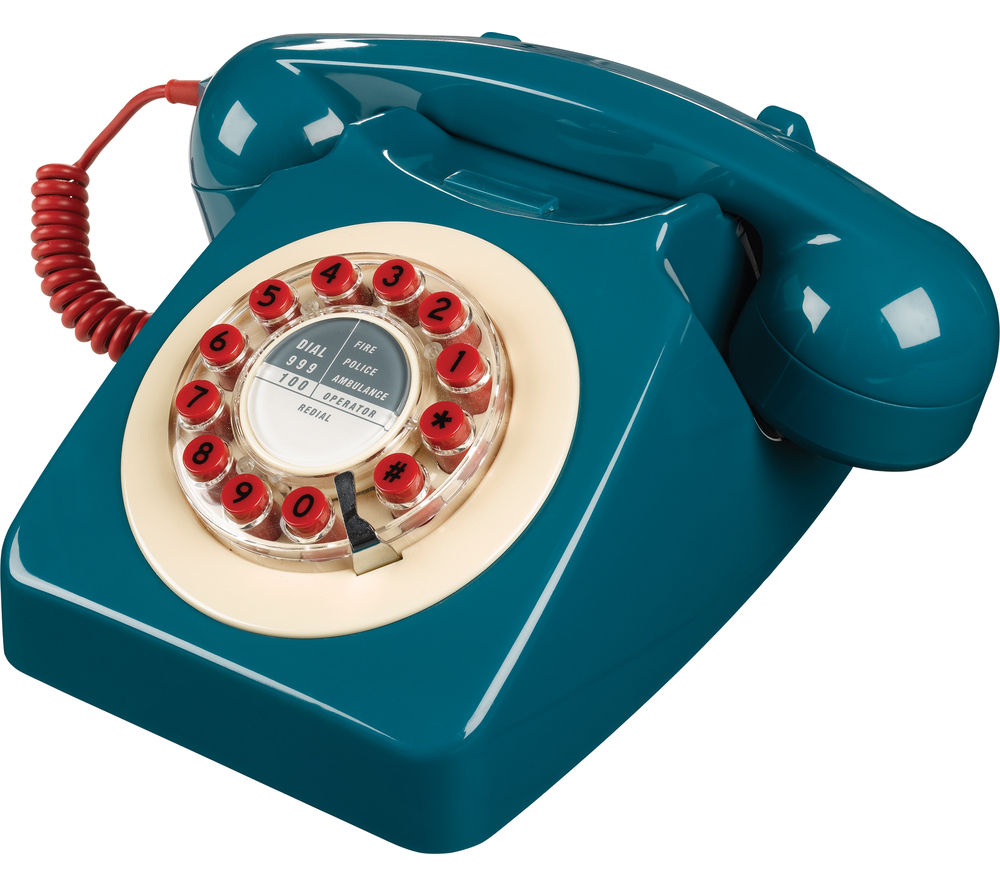 Image of WILD & WOLF 746 Corded Phone - Petrol Blue, Petrol