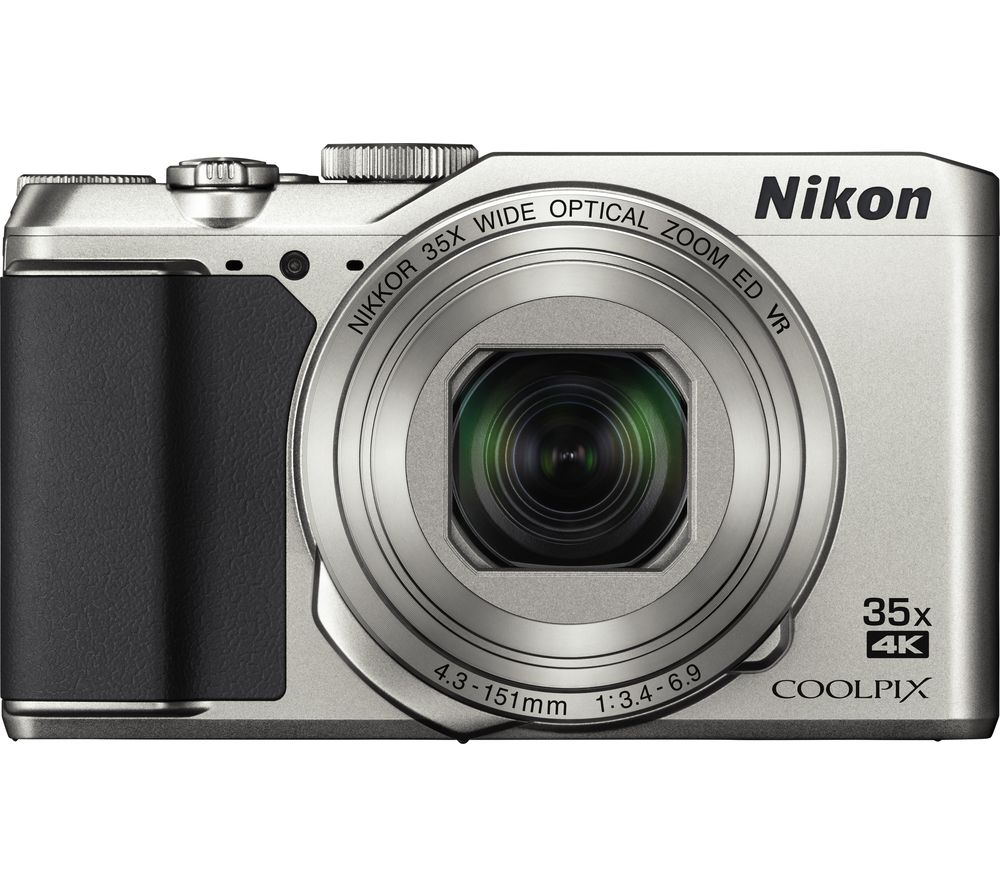 NIKON COOLPIX A900 Superzoom Compact Camera - Silver + SWCOM13 Camera Case - Black + Extreme Plus Class 10 SDHC Memory Card - 16 GB, Twin Pack