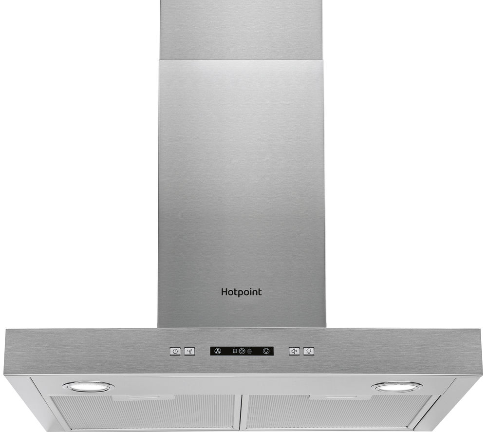 HOTPOINT PHBS6.7FLLIX Chimney Cooker Hood - Stainless Steel
