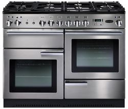 Professional+ 110 Dual Fuel Range Cooker - Stainless Steel & Chrome