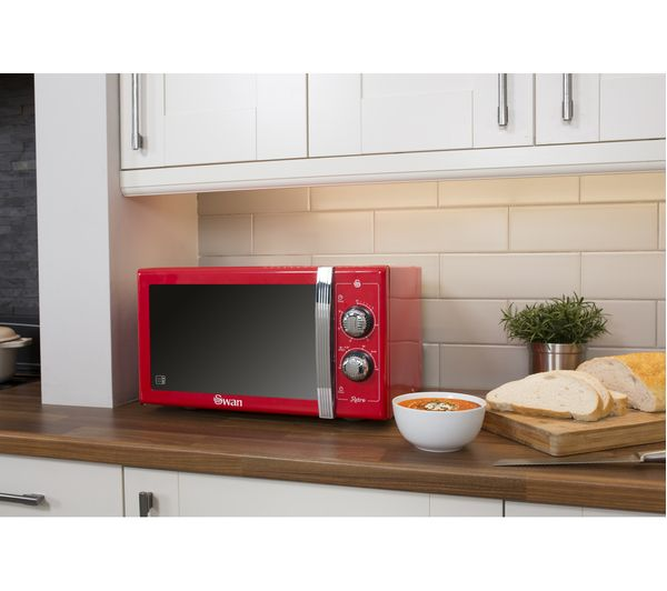 Swan Retro Sm22070rn Solo Microwave Red