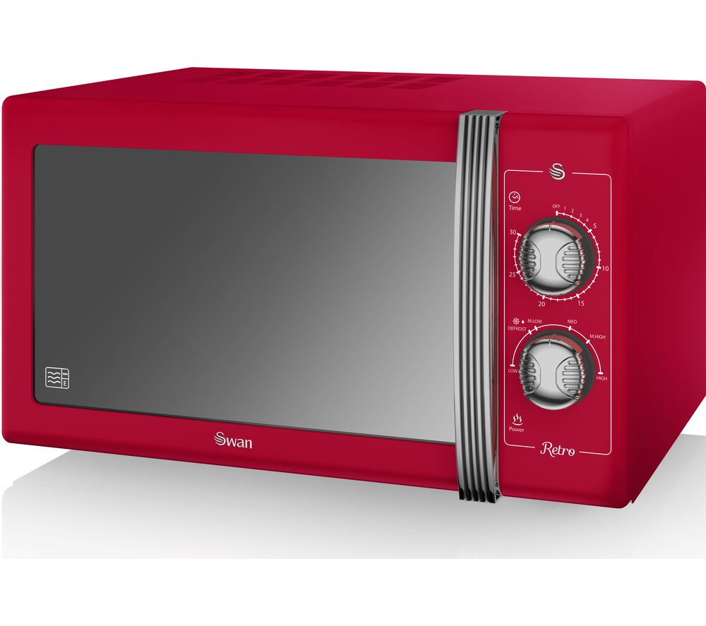 SWAN Retro SM22070RN Solo Microwave - Red