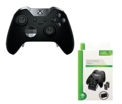 MICROSOFT Xbox Elite Wireless Controller & VS2851 Xbox One Twin Docking Station Bundle